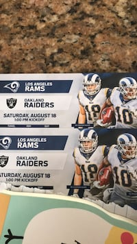 Rams vs Raiders Los Angeles, 91607