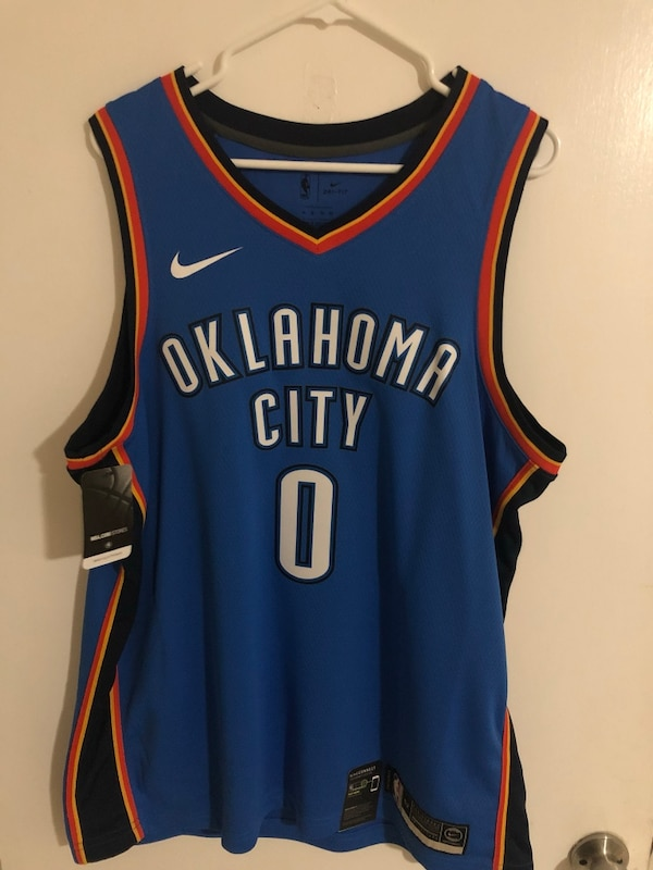 separation shoes d955e 0c4fc Nike nba swingman Oklahoma City Russell Westbrook Jersey new