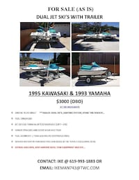 Jet Skis and dual trailer San Diego, 92111
