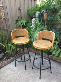two brown wicker bar stools Thousand Oaks, 91360