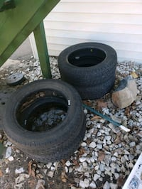 4 Used All Season Continental Tires