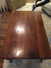 Solid oak French country coffee table