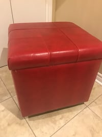 red leather padded ottoman chair Vaughan, L4H 0G6
