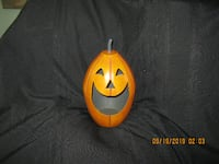 "Retail $30-Tag Attached * 11"" x 6"" Heavy Metal Jack O Lantern Candle Holder Hamilton"