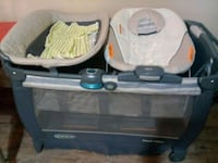 baby's gray and black travel cot Lawrenceville, 30045