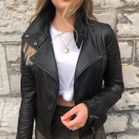 Aritzia Mackage Kenya Leather Jacket Toronto