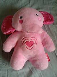 pink and white elephant plush toy( music) Toronto, M1E 4E7