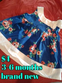 toddler's blue and red floral dress Calgary, T3B 0T3