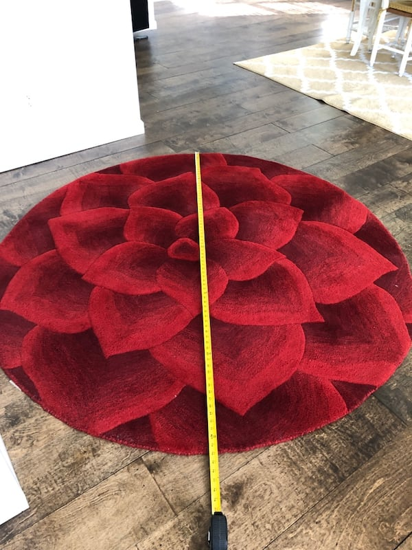 Sold Red Rose Area Rug From Pier One In