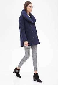 Brand new dark blue boxy double-breasted wool coat Mississauga, L5B