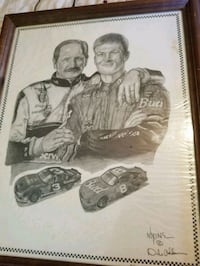 Dale Earnhardt Sr. and Jr. Art Elizabethton, 37643