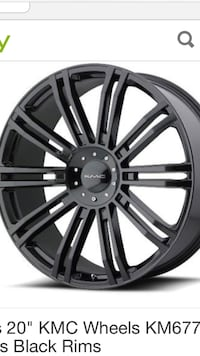 20 inch kmc rims & tires for sale  Pikesville, 21208