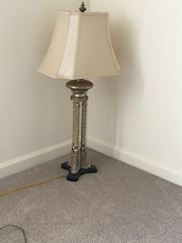 Brass and white table lamp Baltimore, 21237