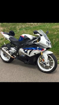 White and blue BMW S1000RR sports bike Carteret, 07008