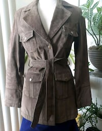 Belted Leather Suede Jacket Montreal, H8N