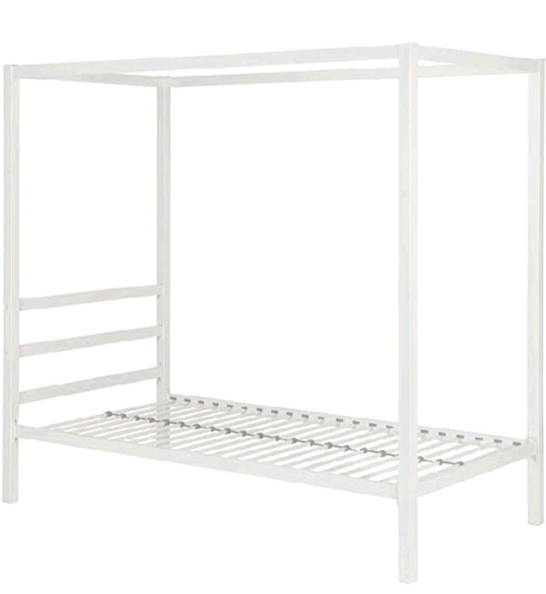 twin size white metal  bed frame