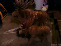 Hand carved wooden moose  St. Louis, 63116