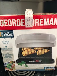 Brand new George Foreman Grill and Panini maker 1458 mi