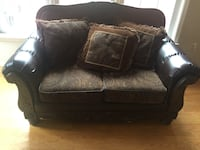 Nee Brown leather sofa set with cushions. Comes with a free black leather couch Manassas, 20110