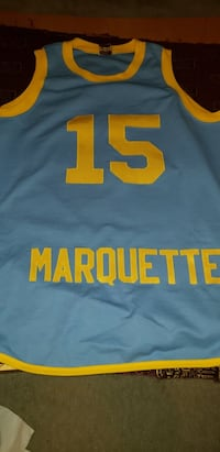MARQUETTE WARRIORS MAJESTIC JERSEY #15 BUTCH LEE SIZE 2XL THROWBACK RETRO 48 km