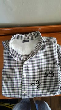 white and black checkered dress shirt Radford, 24141