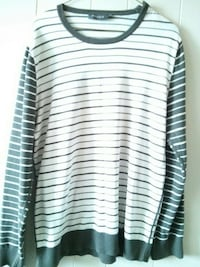 white and black stripe crew neck sweater Kamloops, V2C