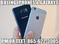 blue topaz Samsung Galaxy S6 Edge and silver iPhone 6