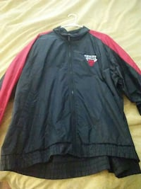 black and red Chicago Bulls full-zip jacket
