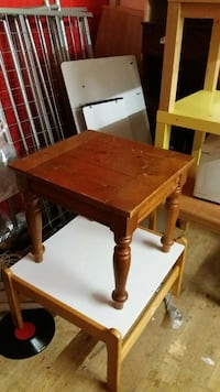 brown wooden square side table Liverpool, L15 3HH