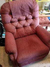 pink and brown fabric sofa chair Columbia, 21046