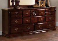 Brand New Tuscan II Glossy Dark Pine 8-Drawer Dresser by Furniture of America Лос-Анджелес