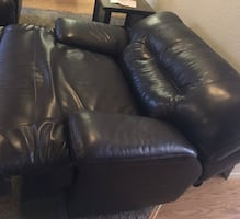 Leather couch and love seat like new