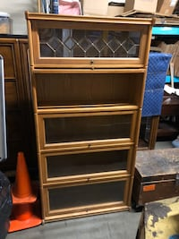 Decorative Wood Cabinet w/ Rollback Doors