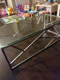 Chrome and Glass coffee table