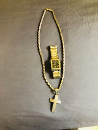 gold-colored chain necklace Wayne, 07470
