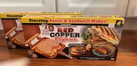 Copper panini and sandwich maker Greenville, 02828