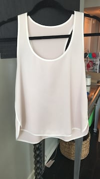 TopShop Baby Pink Racer Tank - Size 4