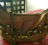 brown leather 2-way handbag 2264 mi