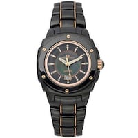 Hot Buy! New without tags Oceanaut Women's Ceramic Black Watch -Mother-of-Pearl Bronze Accents 1159 mi