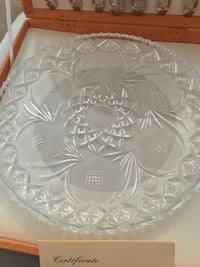Silver and crystal dessert set 789 km