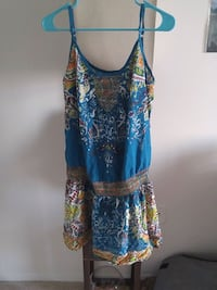 blue and brown floral spaghetti strap dress Silver Spring, 20910