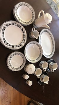 Piano plates set. Dinnerware set   Reston, 20194