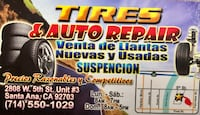 TIRES AND AUTO REPAIR, LOW PRICES!!! Santa Ana, 92703
