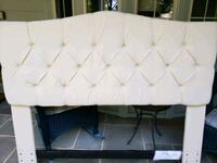 white tufted leather bed headboard Alexandria, 22307