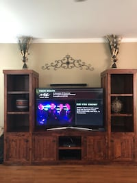 Custom Entertainment center solid wood Chantilly, 20152