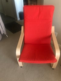 IKEA Red fabric padded armchair. Brand new Surrey, V3T