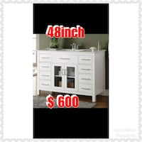 white wooden cabinet with mirror Belleville, 07109