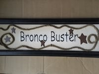 New bronco buster sign