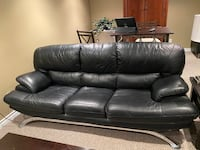 Faux leather black couch