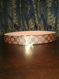 white and red leather belt Toronto, M4C 2G1